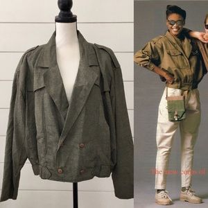 Vintage 80s does 50s Military-Style Jacket